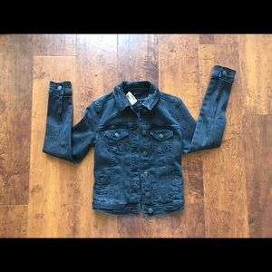 Aeropostale Black Distress Denim Jacket. NWT